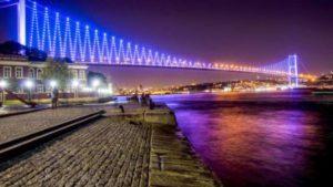 Босфорский мост. Достопримечательности в Стамбуле