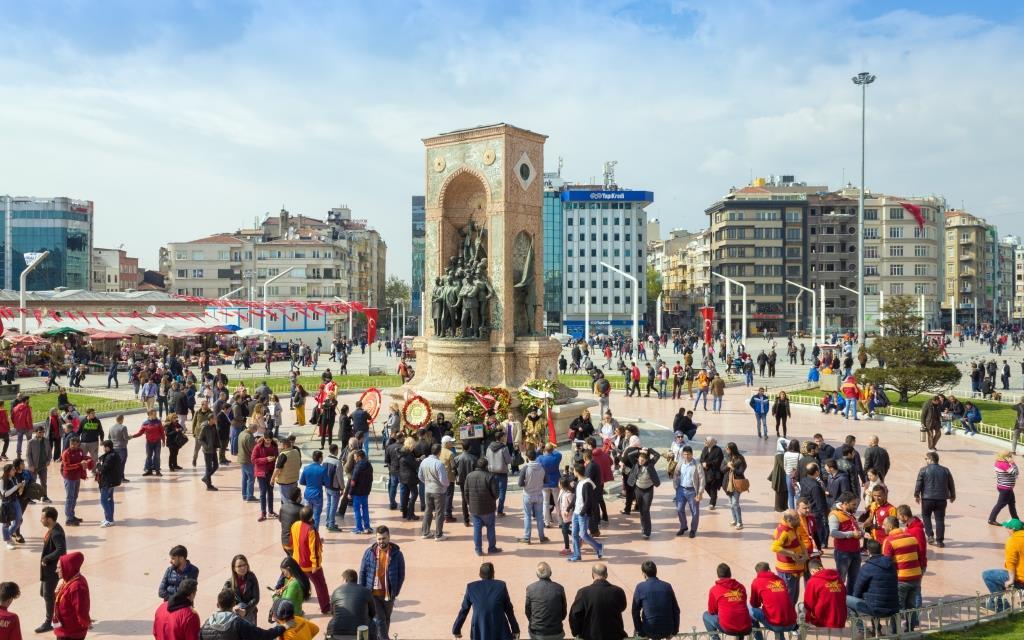 Площадь Таксим в Стамбуле (Taksim Meydanı)