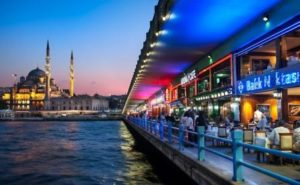 Галатский мост в Стамбуле Galata köprüsü