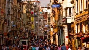 улица Истикляль в Стамбуле Istiklal Caddesi