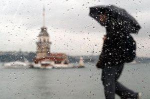 Стамбул зимой Девичья башня