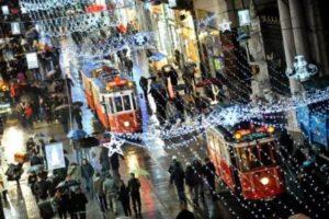 Стамбул зимой Таксим Taksim Istanbul