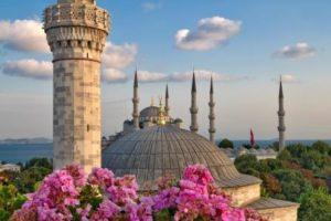 Стамбул летом Голубая мечеть