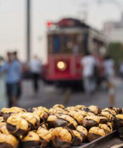 Жареные каштаны Стамбул