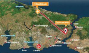 Как добраться на метро от Нового аэропорта Стамбула
