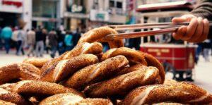 Уличная еда в Стамбуле Симит