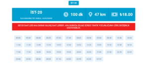 Расписание автобусов ХаваИст до Султанахмет