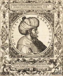 деревянная гравюра с изображением Барбарос Хайреддина Паши 1500 годов