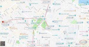 Карта достопримечательностей Лалели Стамбул