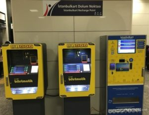 Автоматы для пополнения Istanbul kart