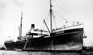 Корабль Куртулуш возле острова Мармара