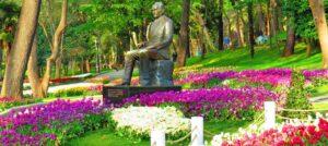 Скульптура Ататюрка в парке Гюльхане Стамбул